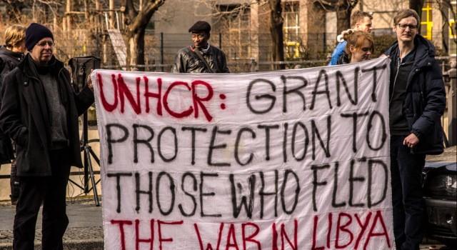 Protest at UNHCR Berlin